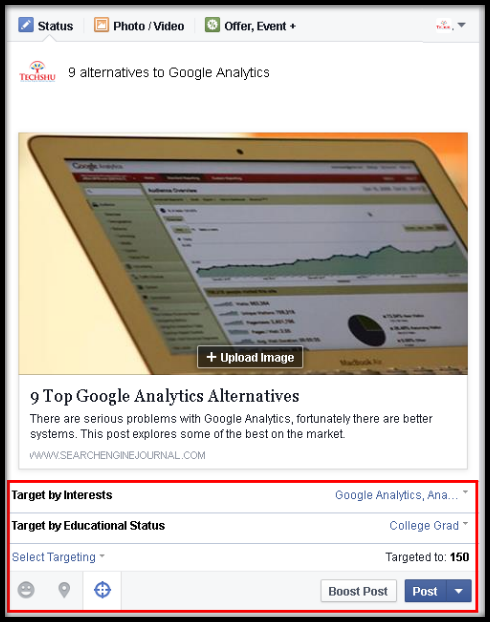 how to know audience facebook promoted post