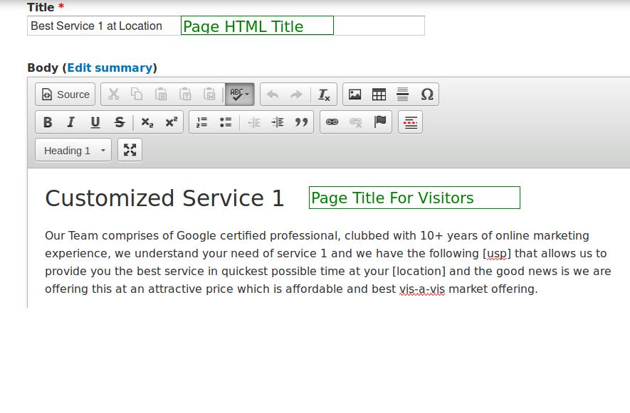 Page HTML title &b page topic title