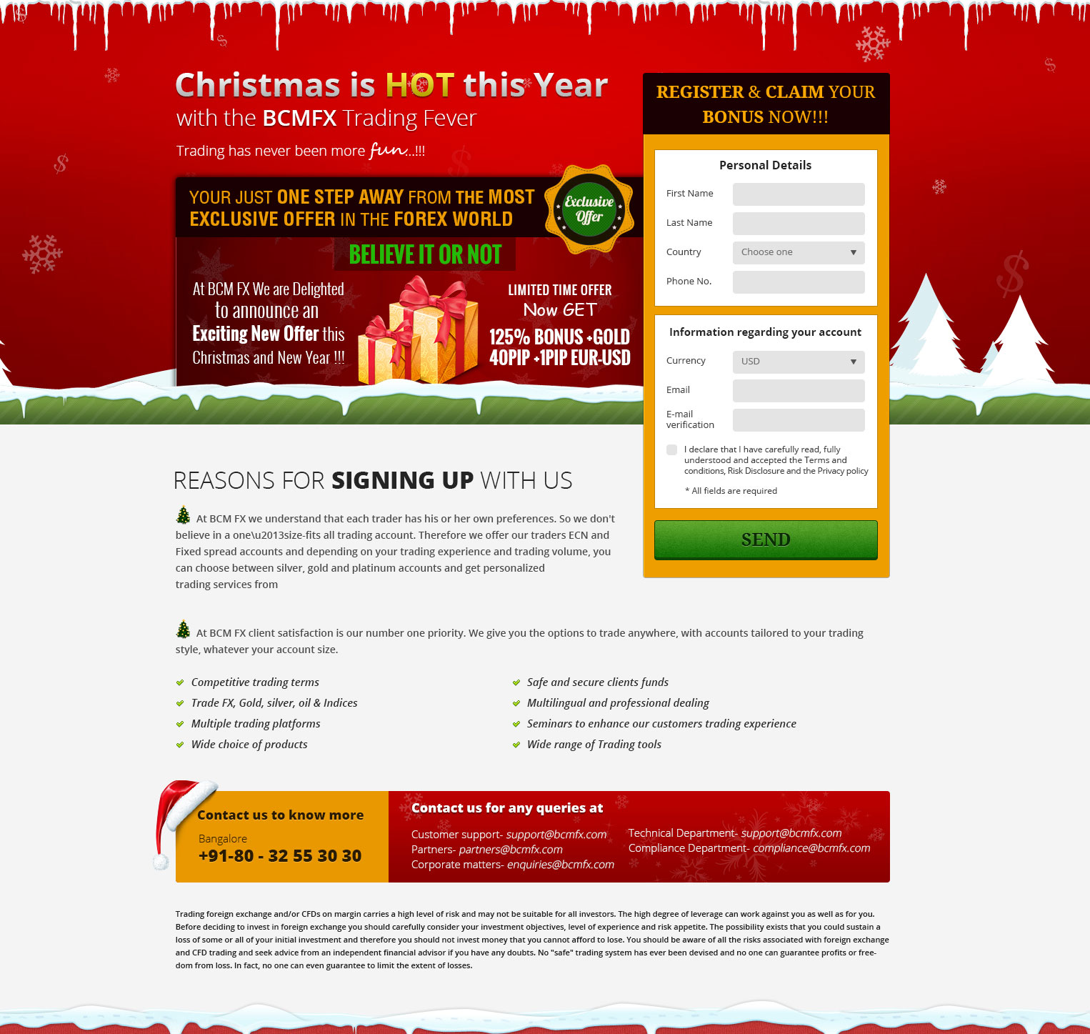 Christmas offer landing page