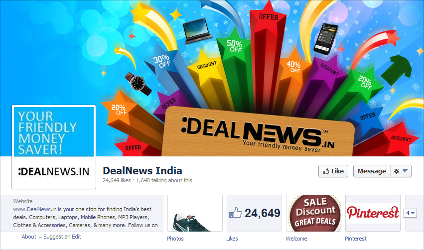 deals facebook cover