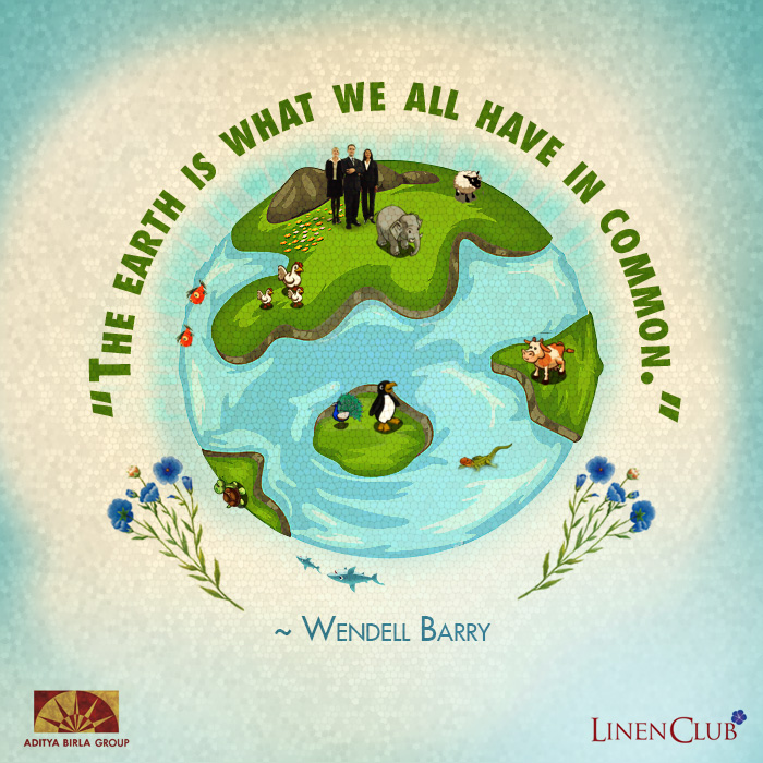 Creative Earth Day Facebook Post For #1 Linen Manufacturer & Retailer Brand From India