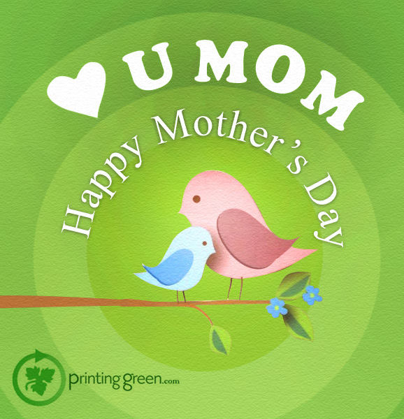 Mother's Day Post For U.K. Based  Online Green Printing Service